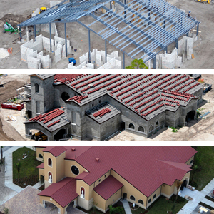Our Lady Queen of The Apostles Church collage