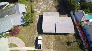Aerial Picture of site pre demolition.